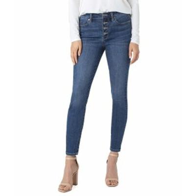 リバプール レディース デニムパンツ ボトムス Abby Sustainable Ankle Jeans with Exposed Button in Barnes Barnes