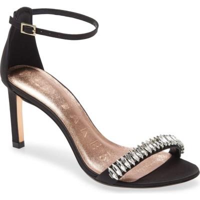 テッドベーカー TED BAKER LONDON レディース サンダル・ミュール アンクルストラップ シューズ・靴 Saralia Crystal Embellished Ankle Strap Sandal Black