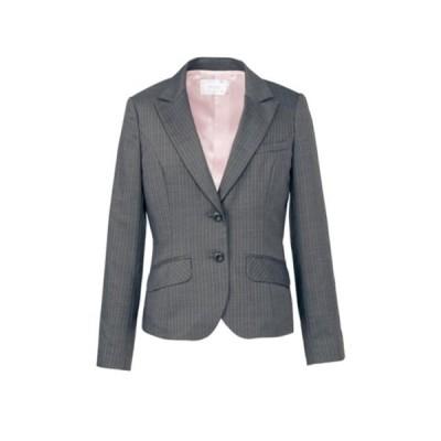 ジャケット ネイビー 紺 ストライプ グレーストライプ 5-17号 制服 オフィス 事務 事務服 企業制服 レディース