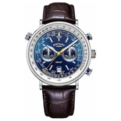 ロータリー 腕時計 Rotary   メンズ Henley クロノグラフ   Blue Dial   GS05235/05 Watch