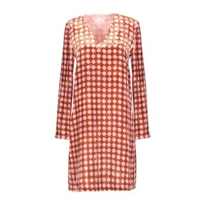 SIYU ミニワンピース&ドレス オレンジ 40 レーヨン 82% / シルク 18% ミニワンピース&ドレス