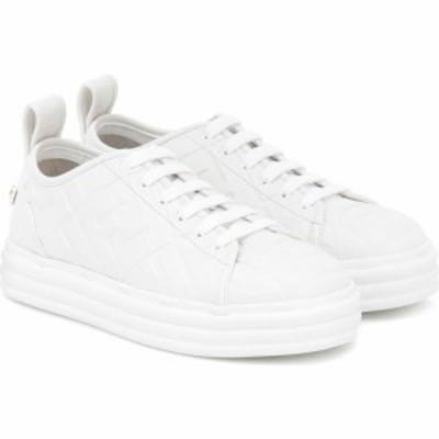 フェンディ Fendi レディース スニーカー シューズ・靴 promenade ff leather sneakers Ultra White