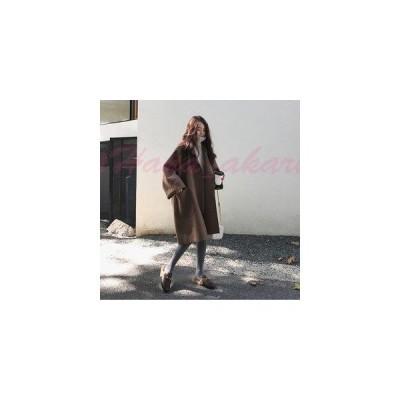 コート レディース ロング丈 ロングコート ゆったり ステンカラーコート チェスターフィールド チェスターコート ジャケット アウター 羽織コート