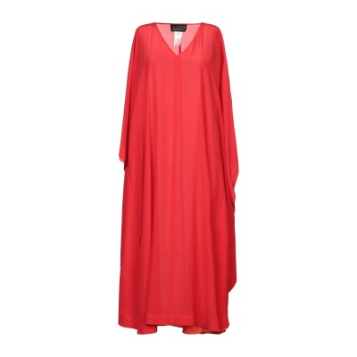 ジャンルカ・カパンノロ GIANLUCA CAPANNOLO 7分丈ワンピース・ドレス レッド 40 シルク 100% 7分丈ワンピース・ドレス