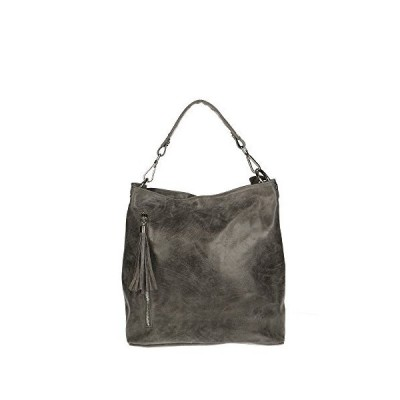 Chicca Borse 80054, Women's Top-Handle Bag, Grigio, 34x29x14 cm (W x H L) 並行輸入品