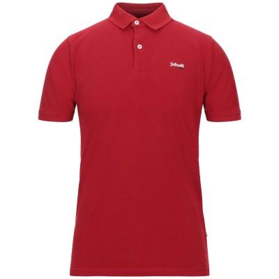 ショット SCHOTT ポロシャツ レッド S コットン 100% ポロシャツ