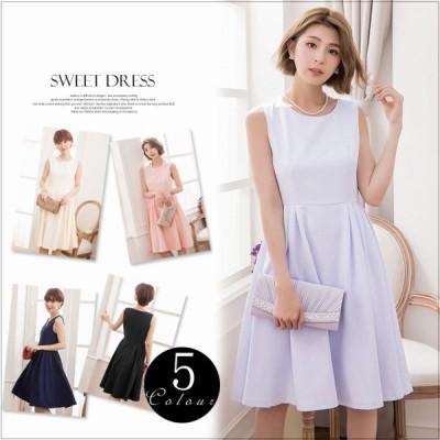 ノースリーブ・プリーツ・ドレス(5色)
