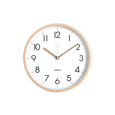 Kappa Non-Ticking Silent Simple Wood Frame Wall Clock | Quiet Home Decorati