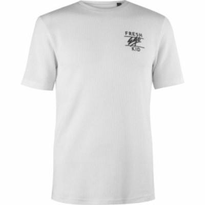 フレッシュエゴキッド Fresh Ego Kid メンズ Tシャツ トップス Waffle T-Shirt Cream