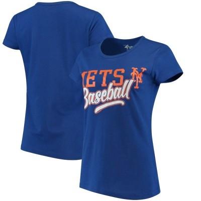 カールバンクス Tシャツ トップス レディース New York Mets G-III 4Her by Carl Banks Women's Endzone Fashion T-Shirt Royal