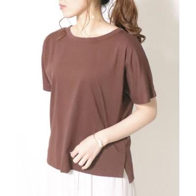 COMME CA ISM/コムサイズム フレンチスリーブ Tシャツ ブラウン M
