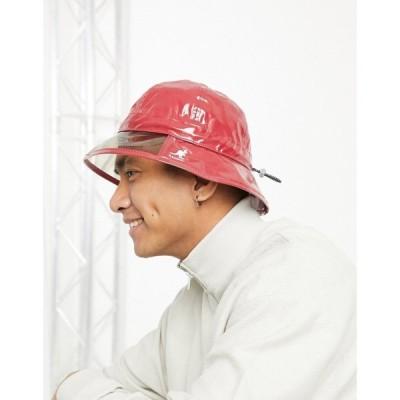 カンゴール Kangol メンズ 帽子 レインハット rain hat in red レッド