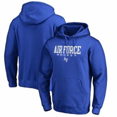 """メンズ フーディ """"Air Force Falcons"""" Fanatics Branded True Sport Hockey Pullover Hoodie - Royal"""