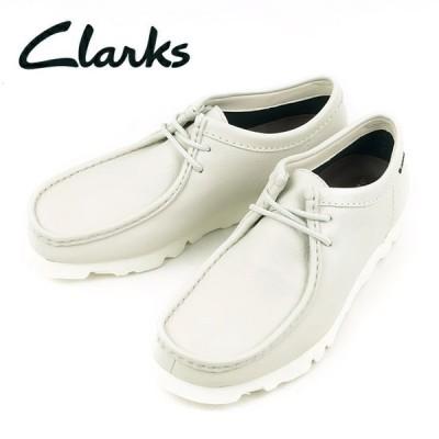 Clarks クラークス Wallabee GTX ワラビー(ホワイトレザー) 26160317 【靴/アウトドア/メンズ/ゴアテックス】