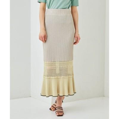 スカート 【STUDIOUS】マルチクロシェニットスカート