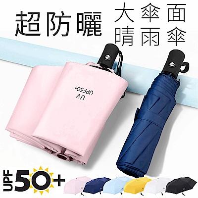 CITI 超防曬抗UV 雨傘 UPF50+ 8骨防風大傘面 輕量體感降溫自動傘/晴雨傘
