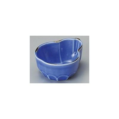 ルリ貫入ヒサゴ型小鉢/大きさ・12×10×5.4cm