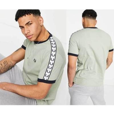 クルーネック 無地 コットン 半袖 ロゴ Fred Perry テープリンガーTシャツ