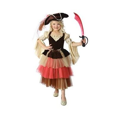海賊 パイレーツ パイレーツオブカリビアン衣装 キッズ 女の子 ハロウィン コスプレ コスチューム 衣装 (Sサイズ)