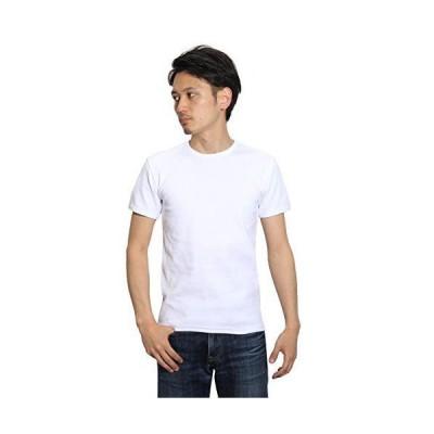 (アヴィレックス)AVIREX デイリークルーネックリブTシャツ 半袖 S ホワイト