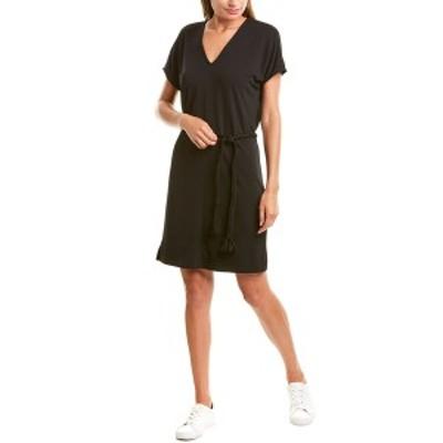 リラピー レディース ワンピース トップス Lilla P Belted Double V-Neck Shift Dress black