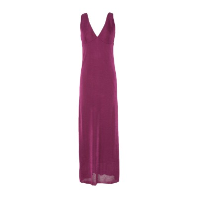 SIYU ロングワンピース&ドレス パープル 38 レーヨン 100% ロングワンピース&ドレス