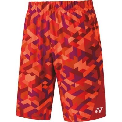ヨネックス テニス メンズ ニットハーフパンツ フィットスタイル テニス・バドミントンウエア 19 サンセットレッド ケームシャツ・パンツ(15090-496)