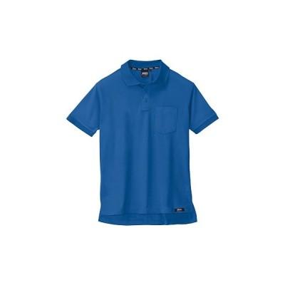 ハイブリッド半袖ポロシャツ 6122 ジーベック 6122 コバルトブルー/3L