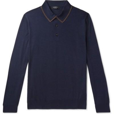 エルメネジルド ゼニア ERMENEGILDO ZEGNA メンズ ニット・セーター トップス sweater Dark blue