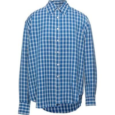 マーティン ローズ MARTINE ROSE メンズ シャツ トップス Checked Shirt Bright blue