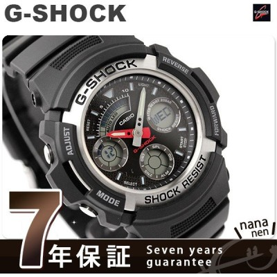 6月末まで!ポイント最大12倍 G-SHOCK Gショック ジーショック g-shock gショック AW-590-1ADR ブラック