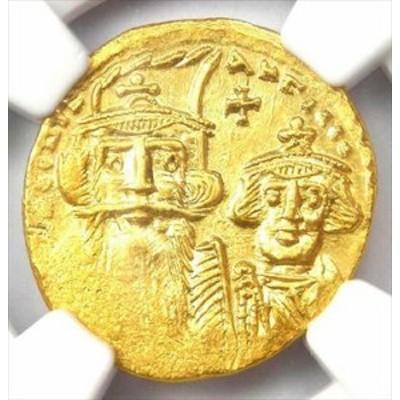 アンティークコイン Constans II and Constantine IV AV Solidus Gold Coin 6