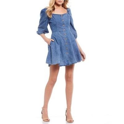 チェルシーアンドバイオレット レディース ワンピース トップス 3/4 Sleeve Denim Dress