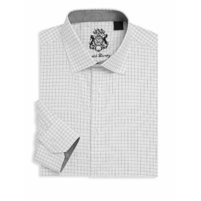 イングリッシュランドリー メンズ ドレスシャツ ワイシャツ Checkered Cotton Dress Shirt