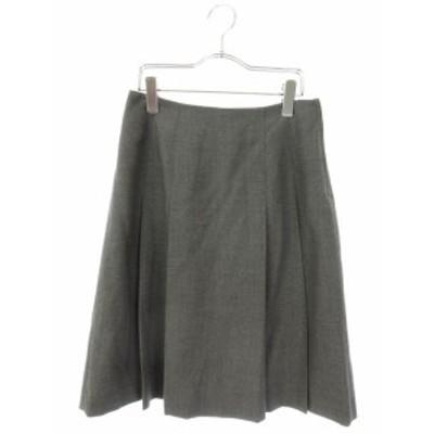 【中古】マークジェイコブスルック MARC JACOBS LOOK スカート ひざ丈 プリーツ ウール 2 グレー /mi レディース