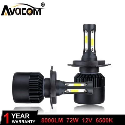 送料無料 カー用品 ヘッドライト H1 H3 H11 H4 LED 車のヘッドライト電球 12 ボルト COB 72 ワット 8000Lm 6500