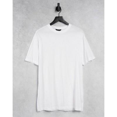 ニュールック New Look レディース Tシャツ トップス Boyfriend T-Shirt In White ホワイト