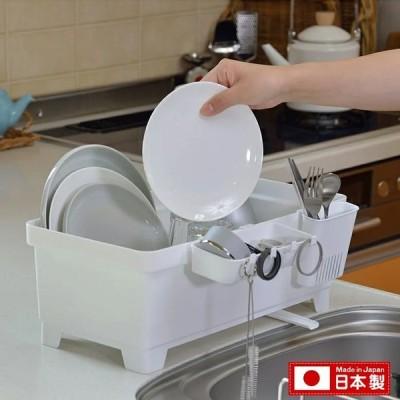 セパレ 食器 水切り ラック シンク脇 プラスチック製 水切りバスケット清潔感 衛生的 白 ホワイト イノマタ化学 INOMATA 代引不可