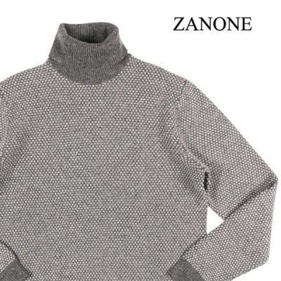 ZANONE(ザノーネ) タートルネックセーター 811941 ZJ228 ライトグレー x グレー 52 24183gr 【W24185】
