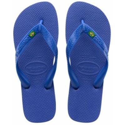 ハワイアナス メンズ サンダル シューズ Men's Brazil Logo Flip Flop Sandals Marine Blue