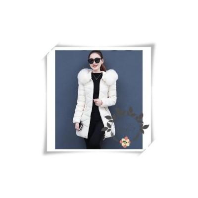 中綿ジャケットレディースロングコートダウンコートアウターフード付きファースリム冬着痩せ防寒服