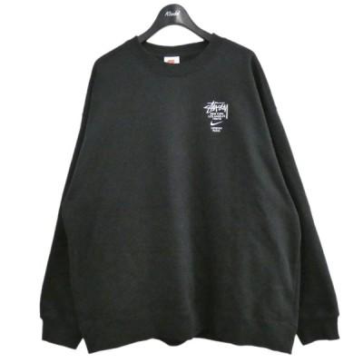 NIKE×STUSSY 20AW 「NRG ZR CREW FLEECE」 フリースクルーネックスウェット ブラック サイズ:XL (原宿店) 210