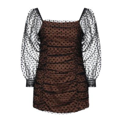 VANESSA SCOTT ミニワンピース&ドレス ブラウン S ポリエステル 100% ミニワンピース&ドレス