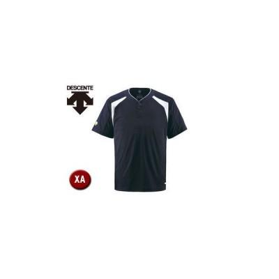 DESCENTE/デサント  DB205-DNVY ベースボールシャツ(2ボタン) 【XA】 (Dネイビー)