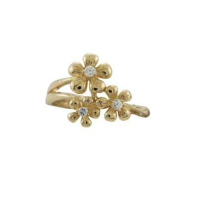 ハワイアンジュエリー リング 指輪 14k ゴールド ダイヤモンド プルメリアリング ハワイ製