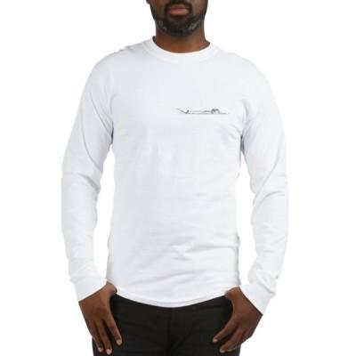 ユニセックス 衣類 トップス CafePress - Waterski Long Sleeve T Shirt - Unisex Cotton Long Sleeve T-Shirt Tシャツ