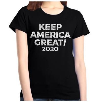 レディース 衣類 トップス Shop4Ever Women's Keep America Great! 2020 Donald Trump Graphic T-Shirt Tシャツ