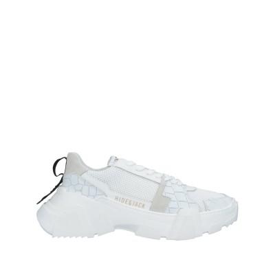 HIDE & JACK スニーカー&テニスシューズ(ローカット) ホワイト 37 紡績繊維 / 革 スニーカー&テニスシューズ(ローカット)