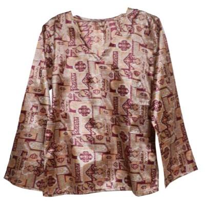 ブラウス アジアン衣料 ネパール・シルクブラウス38 クリックポスト選択 送料200円