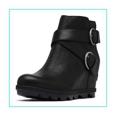 【新品】Sorel - Women's Joan of Arctic Wedge II Buckle Ankle Boot, Black, 7.5 M US(並行輸入品)
